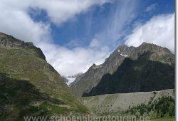Die Gletschermoraene des Glacier du Miage