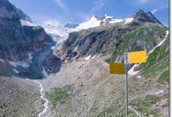 Blick zum Glacier Pré de Bar