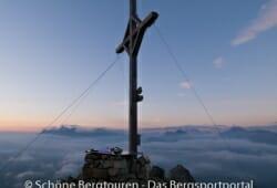 11 Gipfel Tour 2013 - Gipfelkreuz des Rudlhorns