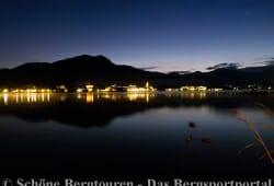 Abendlicher Blick ueber den Tegernsee