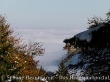 Wolkendecke über dem Tergernseer Gebiet