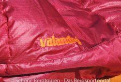 Valandre Bloody Mary Daunenschlafsack - Valandre Schriftzug