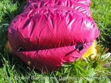 Valandre Bloody Mary Daunenschlafsack - 2 Schlaufen zum Aufhaengen