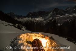 Valandre Bloody Mary Daunenschlafsack - Winterbiwak am Mont Blanc Massiv