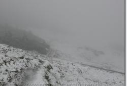 Es schneit immer mehr am Hochalmsattel