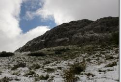 Anfang September liegt Schnee am Hochalmsattel