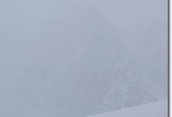 Die Lalidererspitze an der Falkehuette ist nur noch zu erahnen