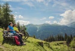 Alpengasthof Hohe Burg - Pause beim Biken