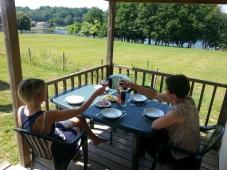 Camping Ecrin Nature - Terasse des Mobilheims