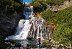 Cascata Sbarco de Fanes im Fanestal, Ampezzaner Dolomiten