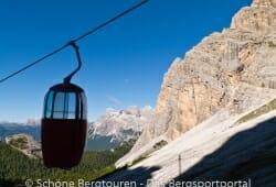 Cortina d Ampezzo - Gondelbahn zum Rifugio Guido Lorenzi