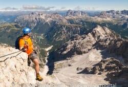 Cortina d Ampezzo - Ausblick vom Klettersteig / Via Ferrata Marino Bianchi