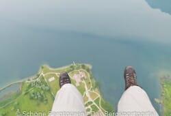 Aussicht beim Gleitschirmfliegen