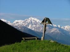Gasthof Weisskugel - Aussicht oberhalb von Matsch