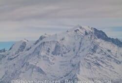 Haute-Savoie - Der Mont Blanc vom Col de Balme gesehen