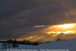 Haute-Savoie - Sonnenuntergang auf dem Plateau des Borne