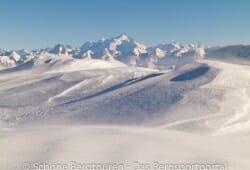 Haute-Savoie - Ein eisiger Wind weht auf dem Gipfel des Sous-Dine