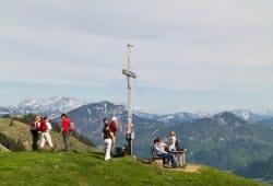 Am Gipfelkreuz des Wandbergs