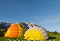 Die Ballons fuellen sich