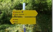 Wegweiser im Falzthurntal