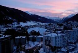 Kongress Hotel Davos - Ausblick im Winter