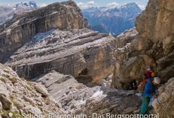 Im Furcia Rossa Klettersteig