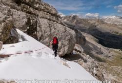 Abstieg von den Furcia Rossa Spitzen