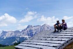 Lagacio Hotel Mountain Residence - Pause auf Almhuettendach