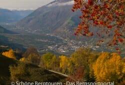 Meraner Land - Blick von Aschbach auf Partschins