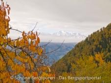 Meraner Land - Herbstlicher Ausblick vom Giggelberg