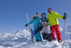 Adelboden-Lenk - Skifahrerfamilie
