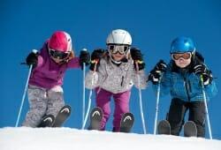 Bach - Joechelspitze - Kinder auf Ski
