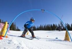 Crans-Montana - Kind auf Ski