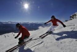 Crans-Montana - Skifahrer auf der Piste