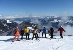 Fuegen - Spieljoch - Skifahrergruppe