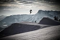 Gaissau - Hintersee - Spielbergalm - Skifahrer