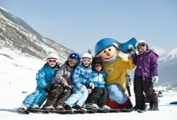 Galtuer - Ballunspitze - Kinder auf Ski