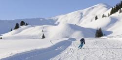 Hoernerdorf Grasgehren - Kind faehrt Ski