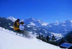 Gstaad - Schlittenfahrt auf dem Eggli