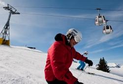 Gstaad - Skifahren am Saanerlochgrat