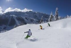 Skiszene im Skigebiet Penken, Zillertaler Alpen, Tirol, …sterreich