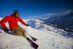 Meiringen - Hasliberg - Skifahrer am Hasliberg