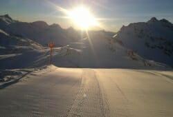 Moelltaler Gletscher - Piste in der Sonne