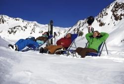 Pitztaler Gletscher - Relaxen im Stuhl