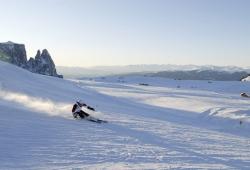 Seiser Alm - Skifahrer