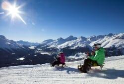 Engadin St Moritz - Schlitten fahren
