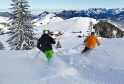 Sudelfeld-Bayrischzell - Skifahrer auf Piste