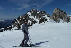 Wendelstein - Skifahrerin