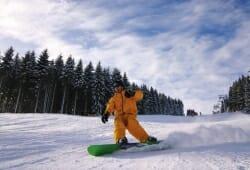 Winterberg - Skiliftkarussell - Snowboarder
