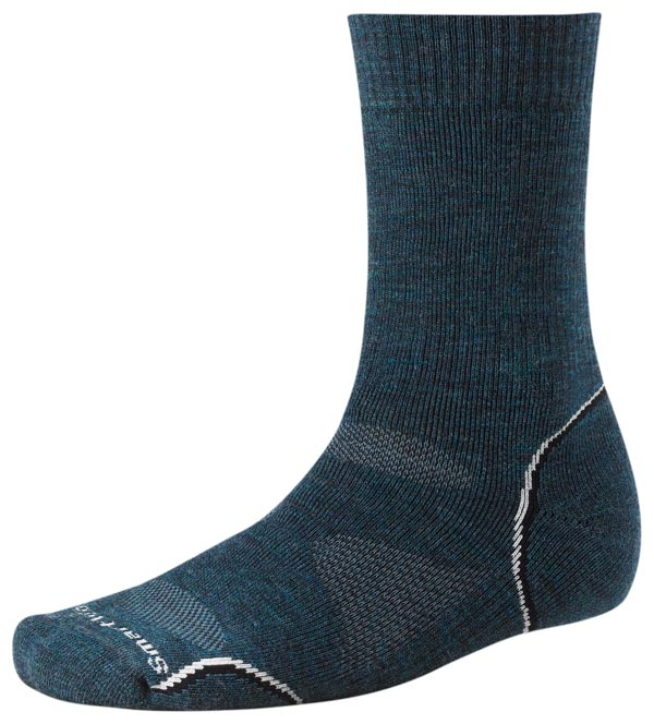 Smartwool PhD Outdoor Medium Crew - Union Blue Silver
